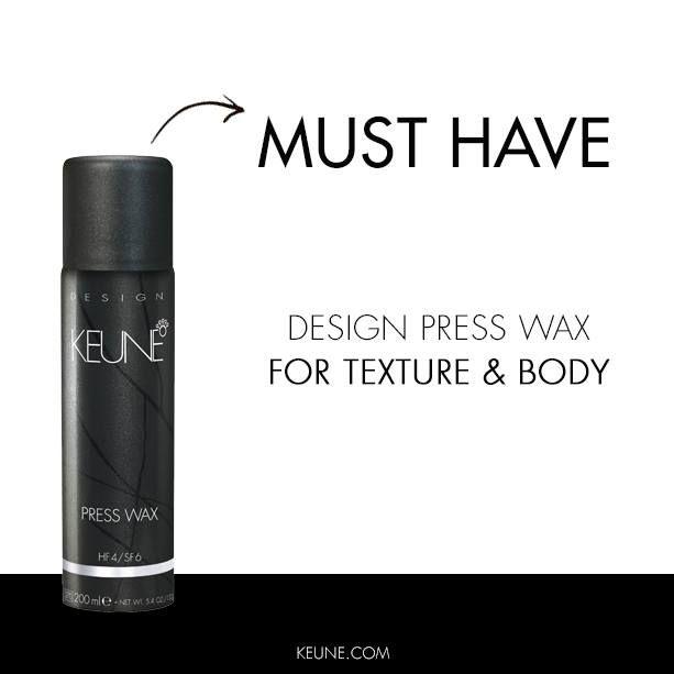 Keune Press Wax: Eindelijk een wax die ook vrouwen met lang haar kunnen gebruiken. Of je haar nu krult, stijl is of van nature een slag heeft; je krijgt er echt een waanzinnige textuur van!