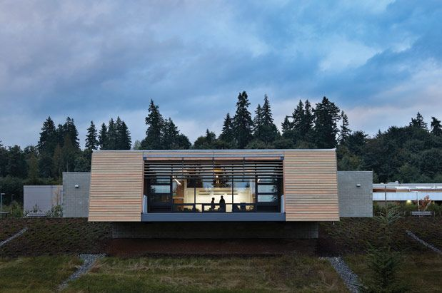 Seattle architecture firm Mithun designed the Brightwater Center (King ...