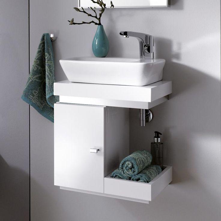 Keramag Silk Handwaschbecken-Unterschrank weiß hochglanz