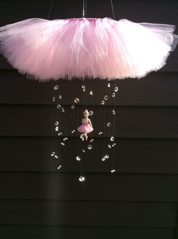 Ballerina baby mobile crystal baby mobile by JennabooBoutique