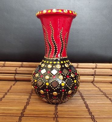 paintedEarth.in | Mirror and Kundan Vase