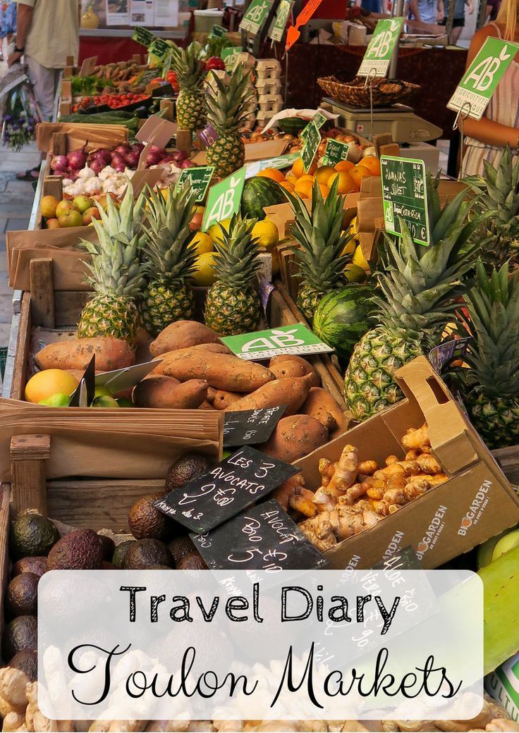 Want to visit the Toulon Markets? Click here for photographs and information on all the Toulon Markets, where to find them & which Provence items to buy..