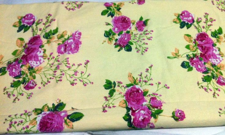 Large printed tablecloth