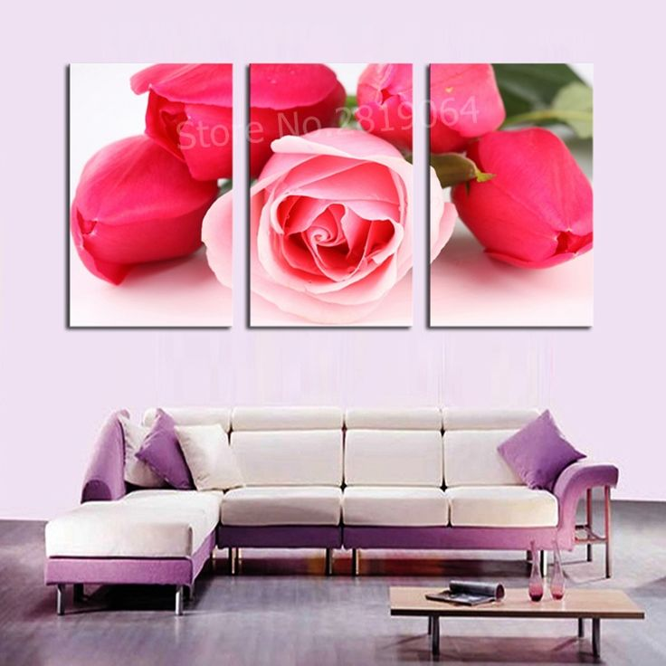 46 best Flower wall art painting images on Pinterest | Floral wall ...