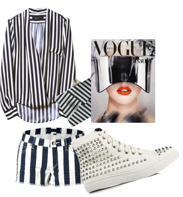 """Glamour look in white & black"" by sara-biondi on Polyvore"