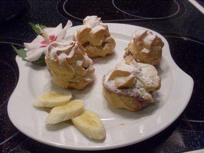 Rezept Brandteigkrapferl mit Puddingcreme
