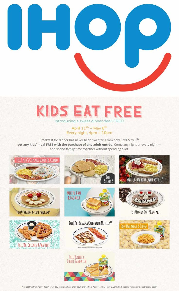 Ihop coupon ihop promo code from the coupons app kids eat free with your meal daily at ihop june