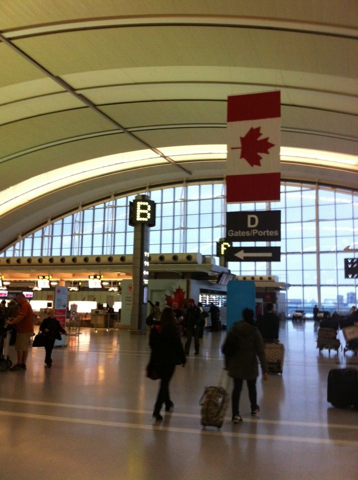 Toronto Pearson International Airport is an international airport serving Toronto, Ontario, Canada, its metropolitan area, and the Golden Horseshoe, an urban agglomeration that is home to 8.7 million people.