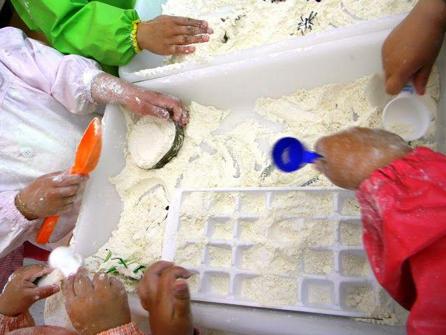 Safata d'experimentació farina