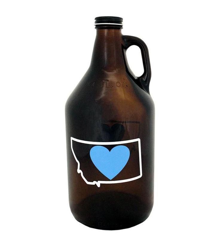 Heart in Montana Growlers #beerbottle
