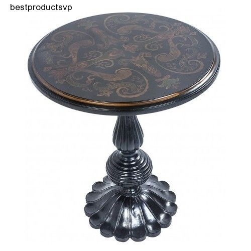 #Ebay #Round #Pedestal #Table #Wood #Modern #End #Black #Accent #Side #Small #Decorative #Sofa #New #Unbranded #Traditional