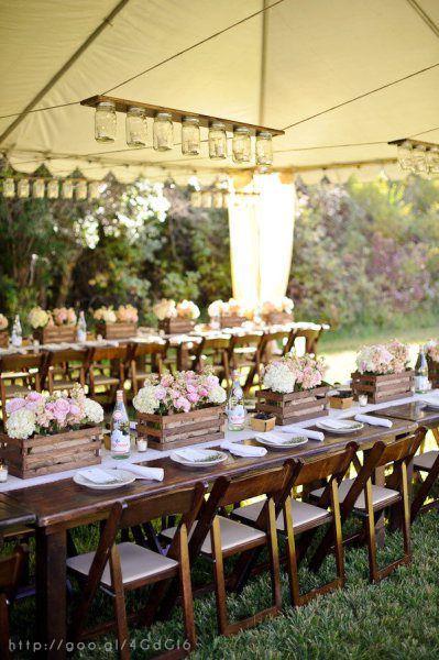 Decoración para boda campestre