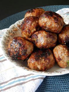 Boulettes de porc haché aux canneberge et à l'érable ~ Ces temps ci en cuisine