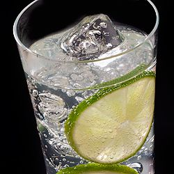 Gin and Tonic..make it skinny with diet tonic water and a splash of grenadine or pomegratate