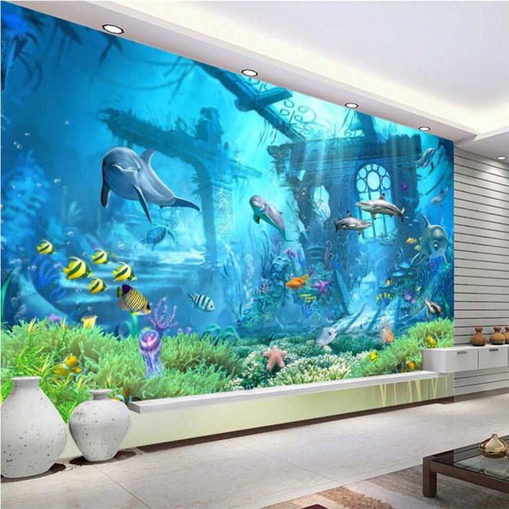 Beibehang Large Custom Wallpaper Mural Underwater World 3d 3d Underwater World Background Wall Papel De Parede 3d Custom Murals Photo Mural Mural Wallpaper