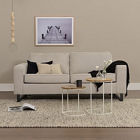 Ensure comfort for your guests with the dual-functionality of the stylish Hooper 2.5 Seater Sofa Bed, Linen from Zanui.