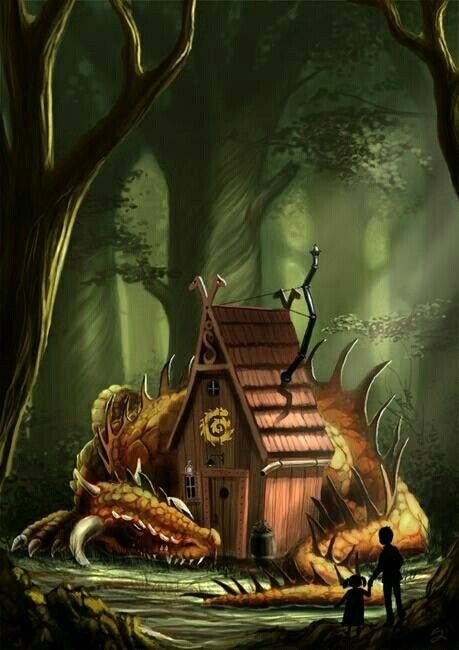 Dragonhouse, an art print by Stathis Petropoulos