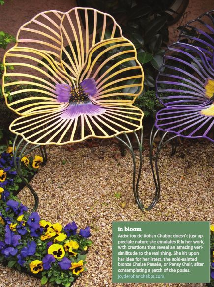 Outdoor chairs: Garden Chairs, Flower Chairs, Joy De, Gardens, Pansies, Pansy Chairs, Outdoor Flower