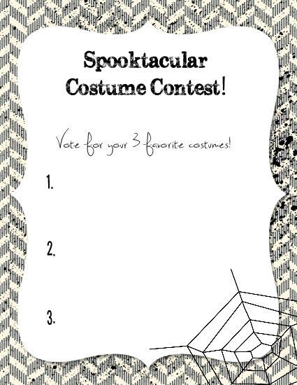AlyStamps.com » Halloween Costume Ballots