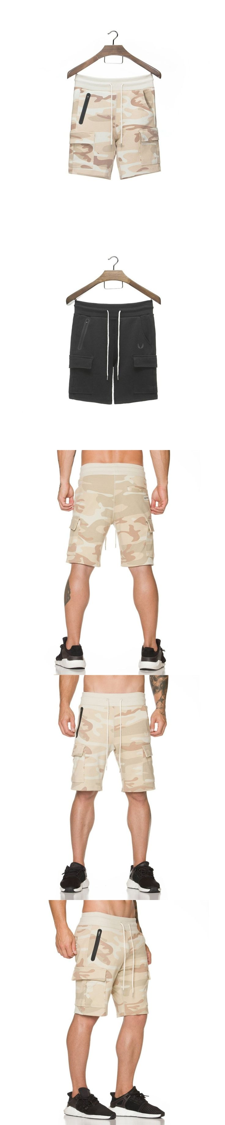 2017 New Men Camouflage Gyms Shorts Bodybuilding Calf Length Jogger Mens Shorts Sweatpants Fitness Man Workout Cotton Shorts