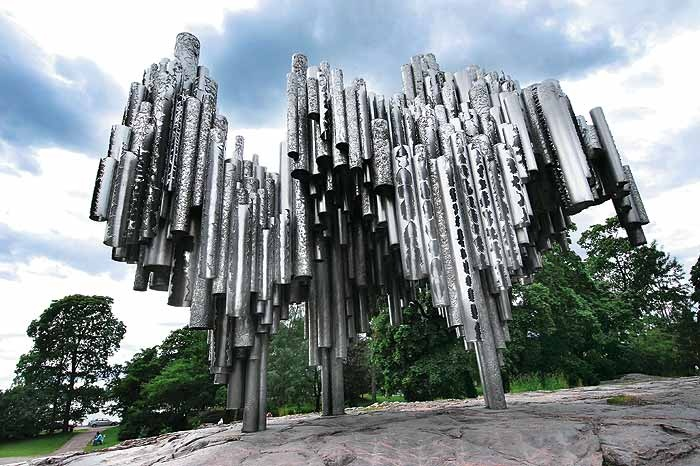 The Sibelius Memorial, built to honour the great Finnish composer
