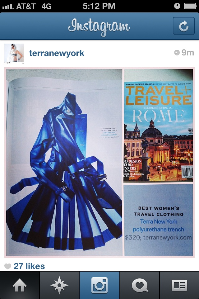 Blue Tribeca trench coat from Terra New York
