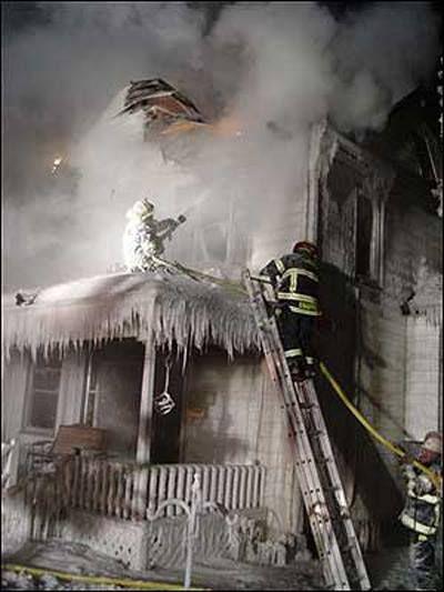 Winter firefighting.....