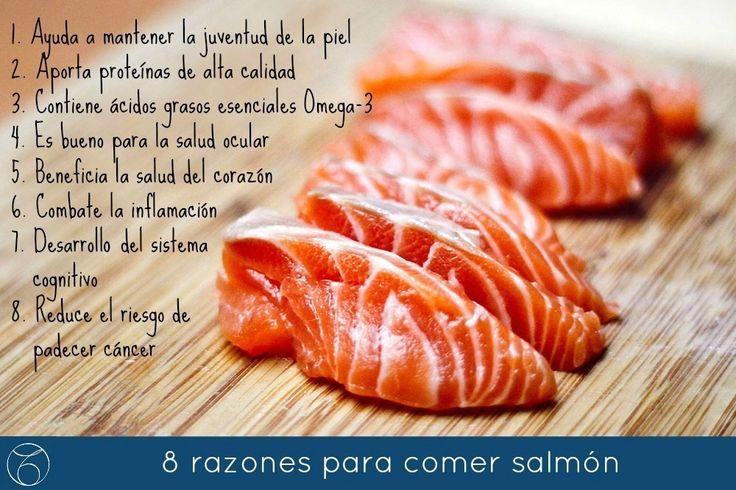 8 razones para Comer Salmón: A la plancha, fumado, en sushi o sashimi: Comer salmón es bueno para tu salud, ya que aporta muchísimo beneficios. Hoy te contamos las principales virtudes de este rico manjar. www.mtmeler.com/... #salmon #salud #bienestar #dieta #belleza #felizmiercoles