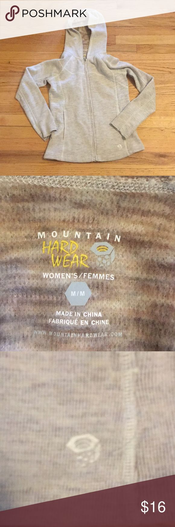 Mountain hardware zip up sweater hoodie Sized medium. GUC. Mountain Hardwear Tops Sweatshirts & Hoodies