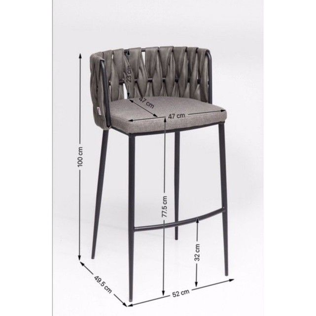 Tabouret De Bar Cheerio Gris Kare Design Tabouret De Bar Ht 65 Cm Bar Bar Stools Et Design