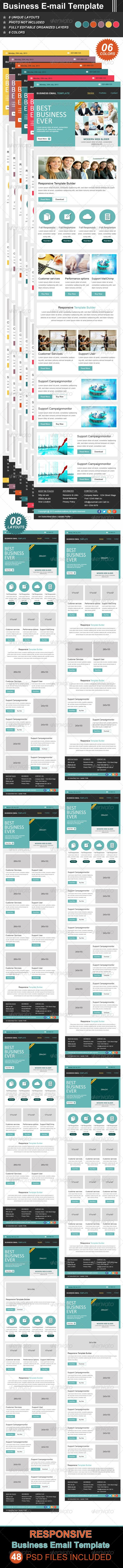 Business Email Template - E-newsletters Web Elements