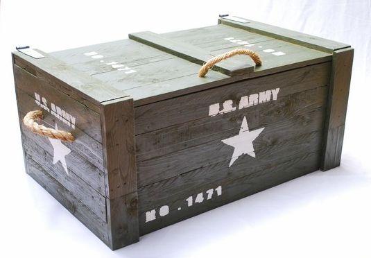 Leger kist U.S. Army voor slaapkamer