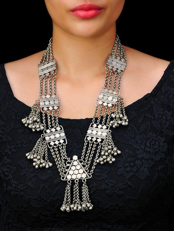 Gypsy Floret Designer Necklace by Sangeeta Boochra (A Brand of Silver Centrre), Buy Online Email US - silvercentrre@gmail.com