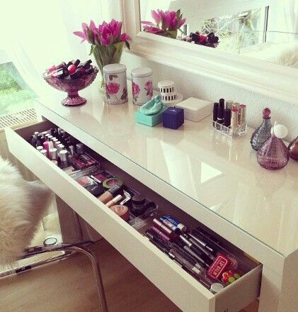 Every little girl deserves a beauty station.... It can start as a writing desk then progress as they get older
