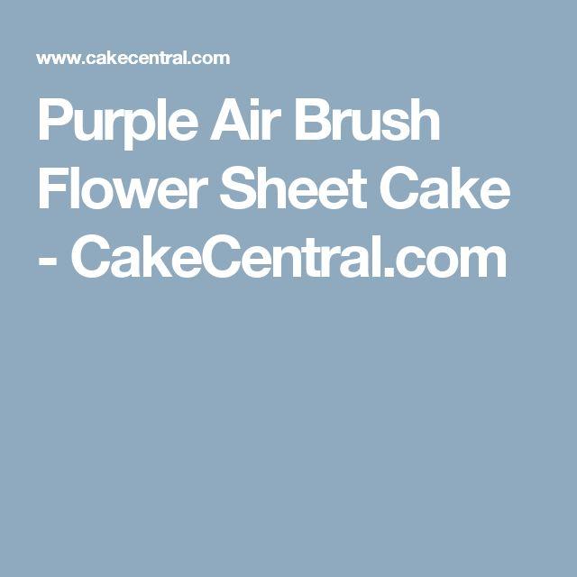Purple Air Brush Flower Sheet Cake - CakeCentral.com