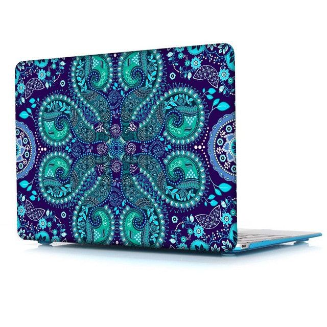 Crystal Hard Case for Apple MacBook Pro 13 15 inch & New 12 Air 11 13 Paisley Pattern Cover for Pro 13 15 2016 Touch Bar A1706