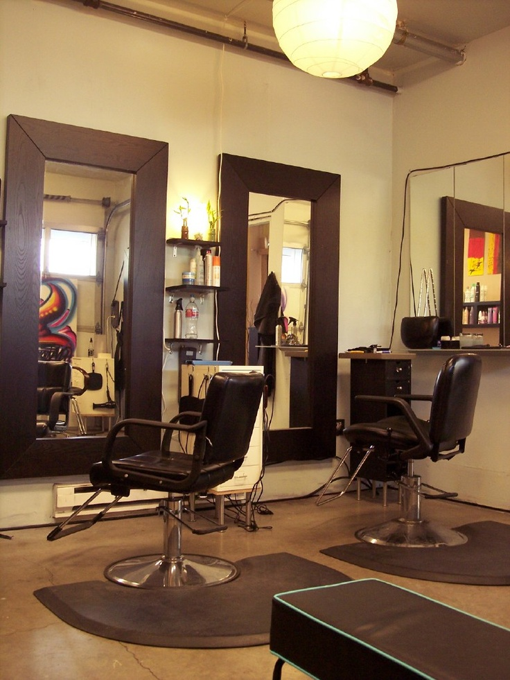 372 best home hair salon ideas images on pinterest for Big salon mirrors