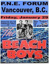Beach Boys 1965 Vancouver Concert Poster - PNE Forum CFUN Tickets