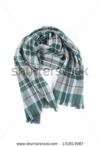Checkered scarf isolated on a white background