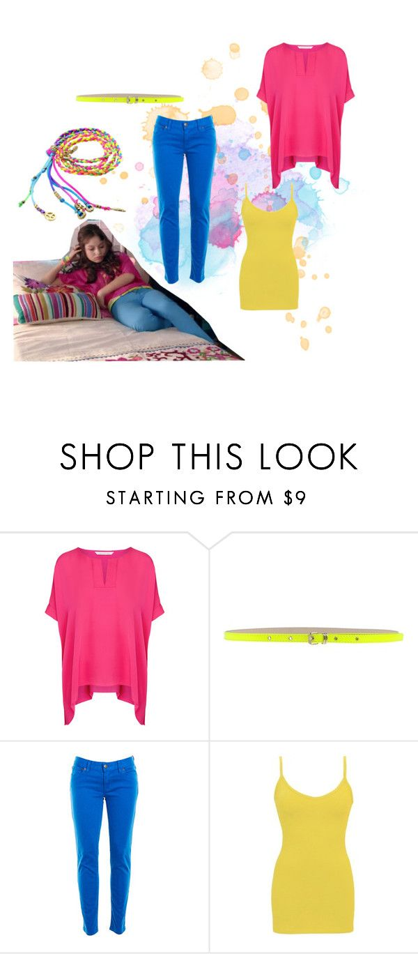 """""""soy luna"""" by maria-look on Polyvore featuring Diane Von Furstenberg, MSGM, J.Crew and BKE core"""