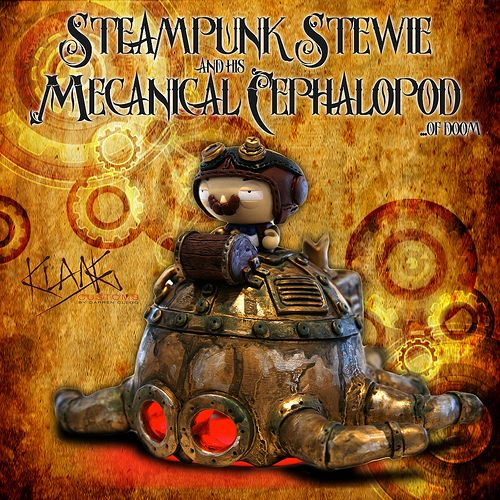 Custom-Feature: Steampunk stewie and his mechanical cephalopod … of doom by Darren KLANG Clegg