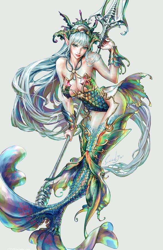Illustrations By Sinad Jaruartjanapat Mermaids Mermaid