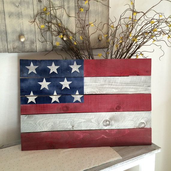 Hey, I found this really awesome Etsy listing at https://www.etsy.com/listing/235152625/rustic-american-flag-pallet-sign