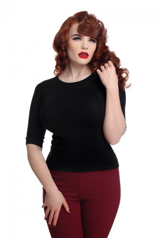 7ed0a5b8173 Collectif Mainline Chrissie Plain Knitted Top