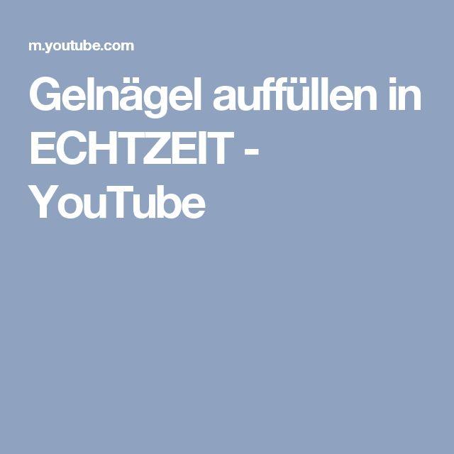 Gelnägel auffüllen in ECHTZEIT - YouTube