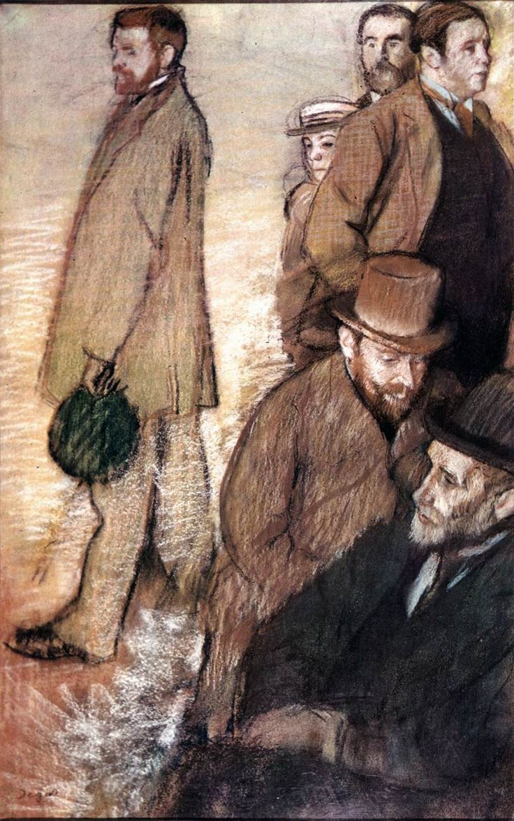 *** Six Friends of the Artist, by Edgar DEGAS,  1885 -  Pastel and black chalk on yellowed gray paper, 113 x 70 cm -  Museum of Art, Rhode Island School of Design, Providence - Mighty Fine Artist