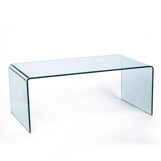 Modern Bent Clear Glass Coffee Table, 86 5522