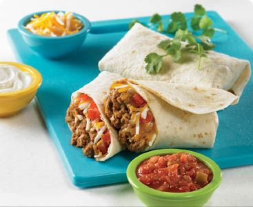Easy Cheesy Burrito - Made healthier with ground chicken!