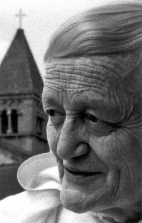 Brother Roger of Taize, whom I was lucky enough to meet before he died.