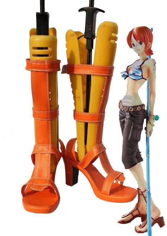 One Piece Anime Nami Cosplay Shoes Boots Custom Made *** Be sure to check out this awesome product.